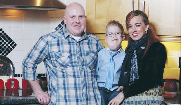 Pride and joy: Siobhan and Colin Ball with their son Caelainn