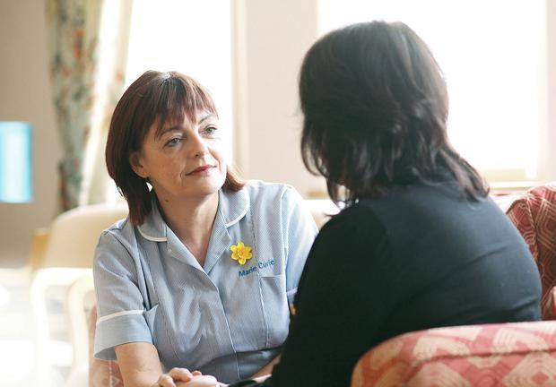 Caring profession: Dympna Devlin at work at the Marie Curie Hospice in Belfast