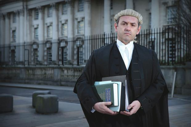 Legal eagle: Mark Mulholland QC in full regalia