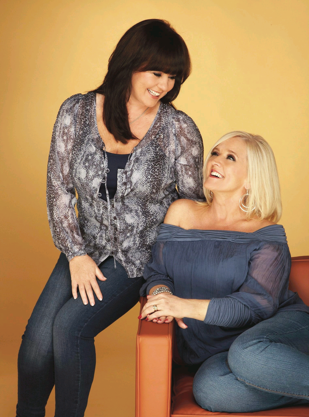 Close-knit: Coleen Nolan with her late sister, Bernie