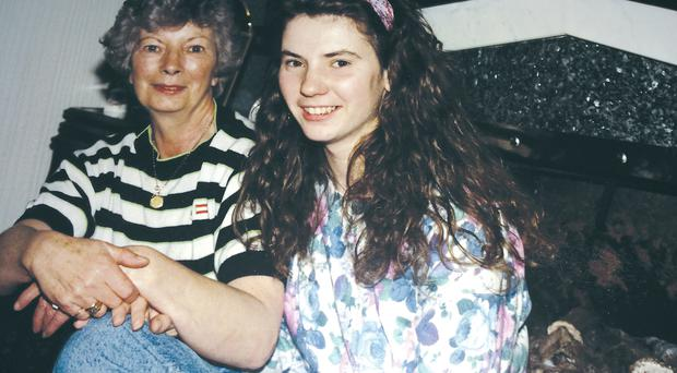 Still mourned: Karen Ireland with her late mum Gwen