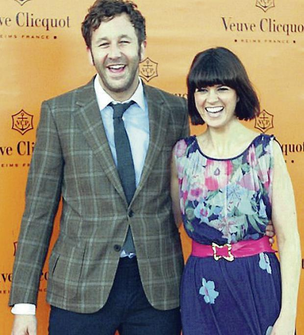 Happy times: Dawn O'Porter with her husband Chris O'Dowd