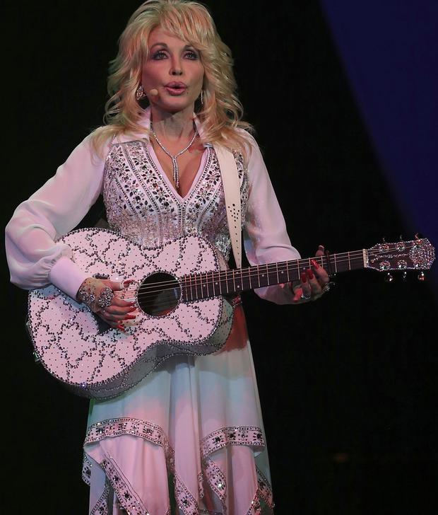 Global superstar: Dolly Parton on stage