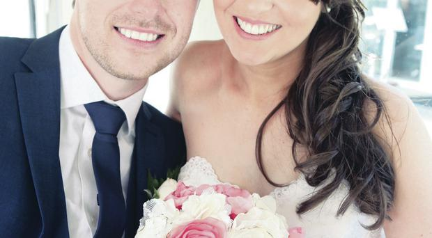 Thomas McCourt and Amy Adair were married at St Patrick's Church of Ireland in Jordanstown