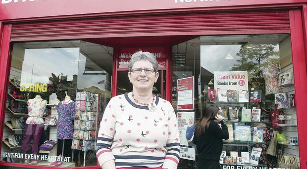Helping hands: The Belfast Telegraph's story about charity CEOs' wages has caused outrage among shopfloor workers, like British Heart Foundation volunteer Margaret Lappin