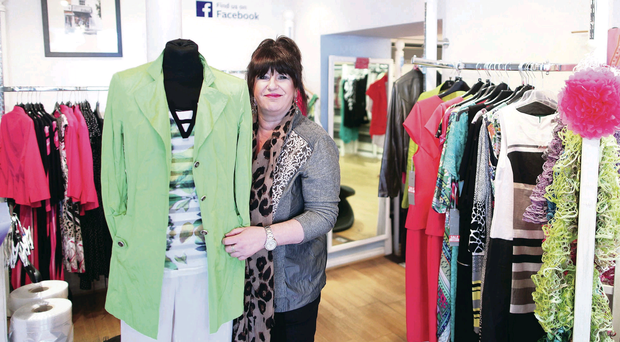 Retail reality: Mandy Baxter in her shop, NewU@92 in Moira