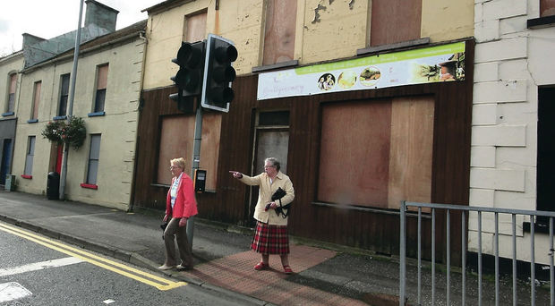 Tough times: Linenhall Street in Ballymoney with its empty shops