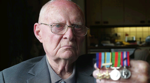 War hero: Bill Eames at his home in Lisburn