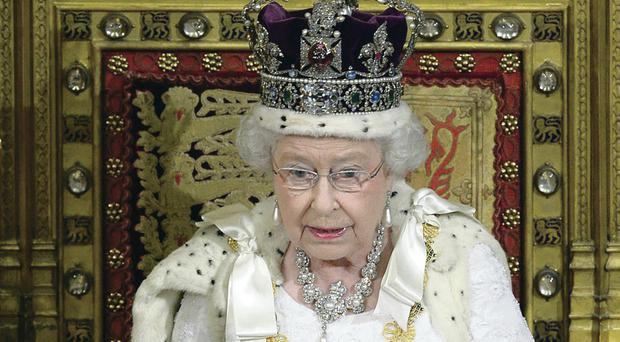 Bad timing: The Queen makes her speech in Parliament this week
