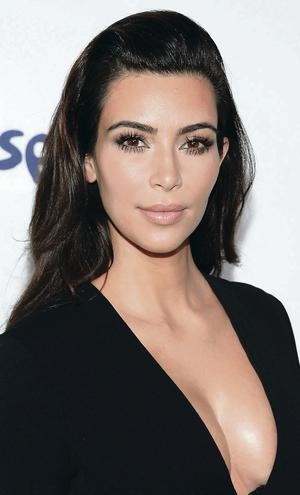 All made up: Kim Kardashian
