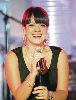 Fighting back: Lily Allen has hit out at those who pick on women
