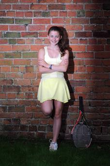 Laura Reid is one of Ireland's top junior tennis players