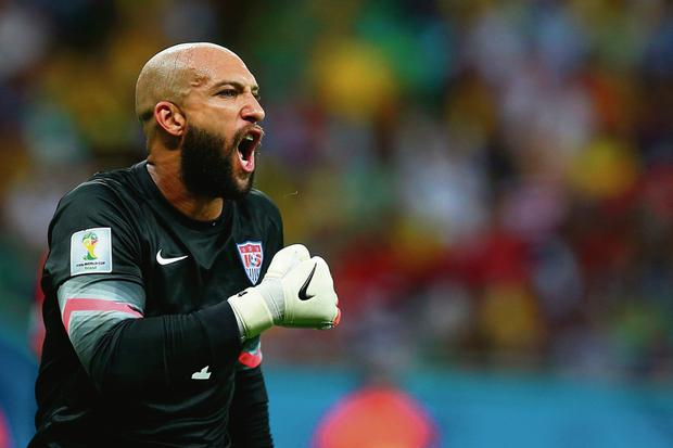 Tim Howard of the USA team