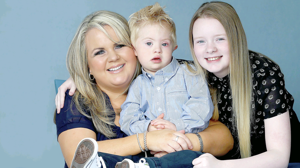Family ties: Hayley Devine with her son Matthew and daughter Mollie