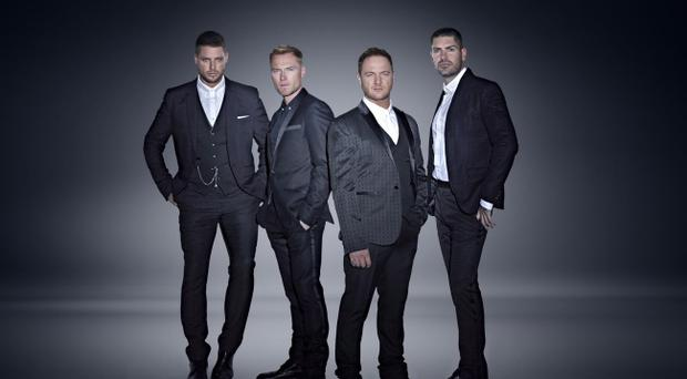 Brotherly bond: Boyzone (from left) Keith Duffy, Ronan Keating, Mikey Graham and Shane Lynch