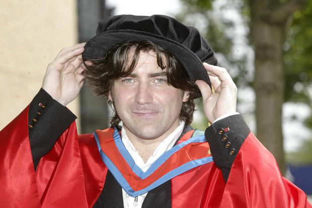 Belfast's Brian Kennedy pictured at the Waterfront Hall where he received an honourary Doctorate from the University of Ulster