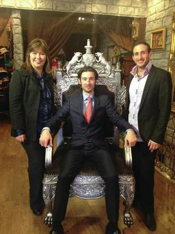 Corporate king: Gary Martin on Million Dollar Intern with business owners Patricia and Mohamad Hajal.