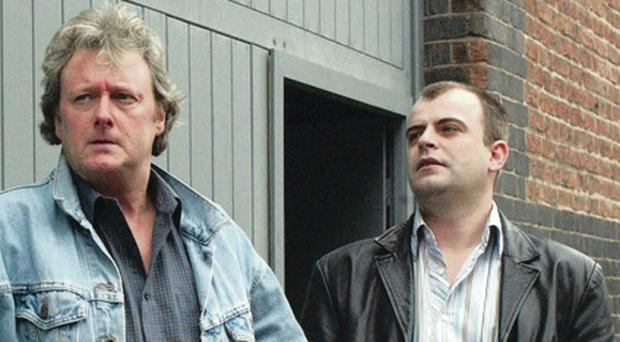 Jim McDonald in Corrie with son and Steve