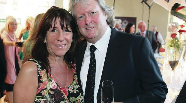 Happy couple: Charlie and partner Debbie