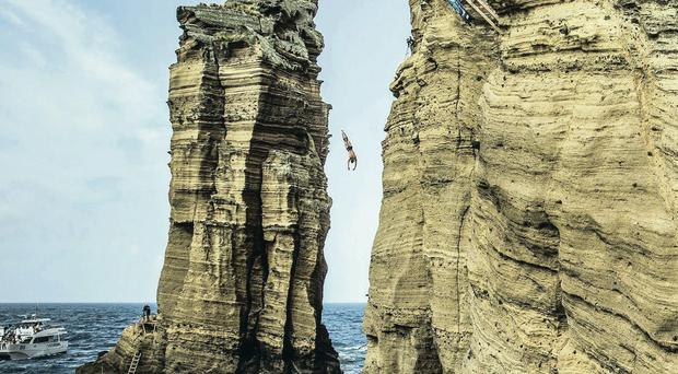 David Colturi is just one of the sea divers taking part in the current Red Bull Cliff Diving World Series