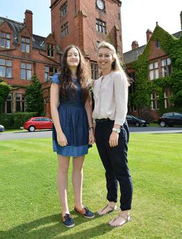 Molly Gilmartin and Rachel Flynn who have devised a study programme to help students to get onto a medical course pictured at Campbell college in Belfast