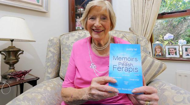 Eleanor Hewardine with her book