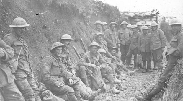 Long haul: soldiers had no choice but to keep fighting in order to stop a German victory