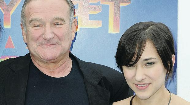 Robin WIlliams with his daughter Zelda