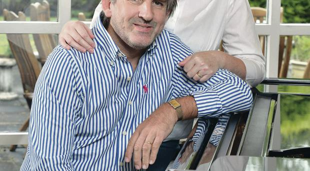 Ivory power: Barry Douglas at home with his wife Deirdre O'Hara