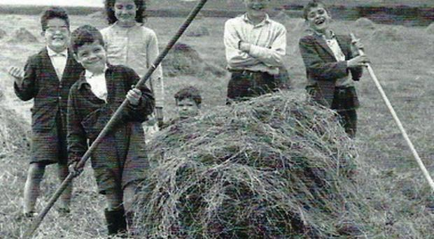 Simple times: children on the farm
