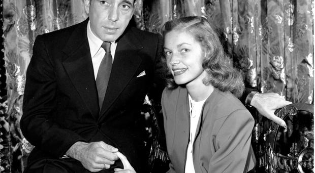 Actress Lauren Bacall and Humphrey Bogart