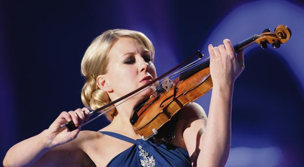 World stage: Elina Vahala performing at the Nobel Peace Prize concert in Oslo in 2008