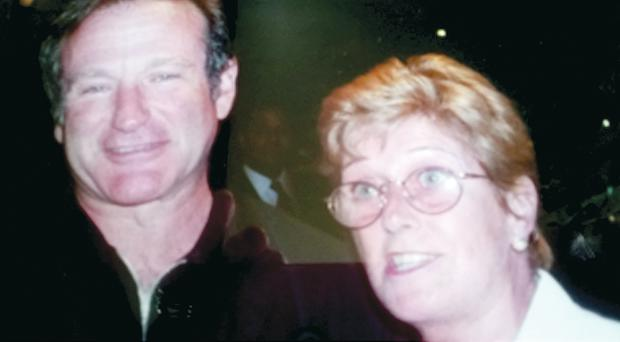 Dorothy Walsh and actor Robin Williams