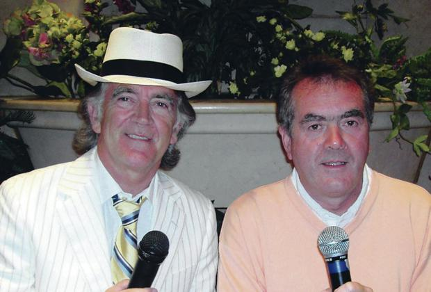 Gerry Anderson with fellow broadcaster Sean Coyle