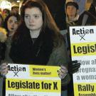 Thorny issue: a protester against abortion legislation in Dublin