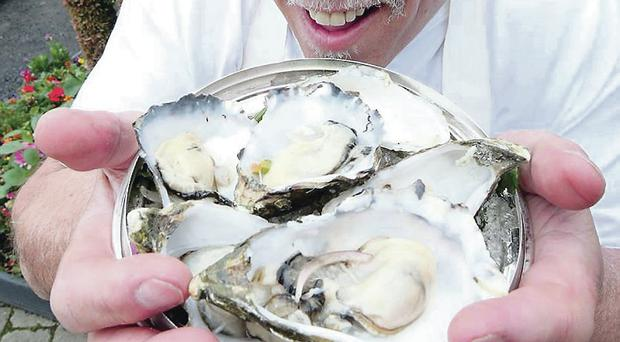 Oyster eater: Colin has won the Hillsborough contest eight times