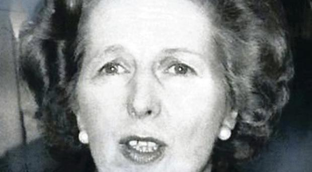 Not so steely: ex-PM Margaret Thatcher, dubbed the Iron Lady, wept when her son, Mark, was lost in an African desert