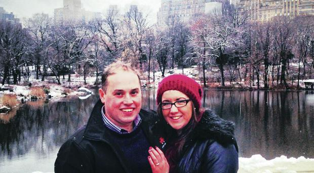 Magical moment: Alicia and Brian in New York
