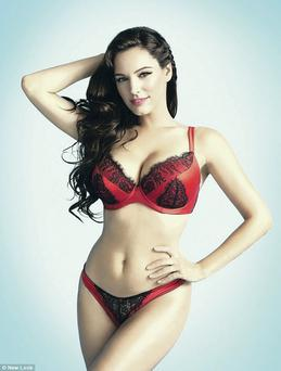 Perfect fit: Model Kelly Brook is well-known for her stylish and sexy underwear ranges