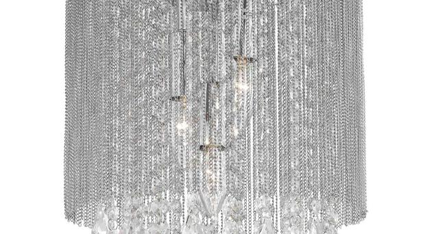 Haslemere Clear Glass Chain Pendant Light, Laura Ashley.