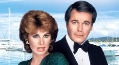 Glam couple: TV detectives Jennifer and Jonathan Hart