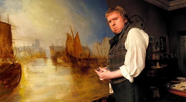 Timothy Spall plays JMW Turner in Mr Turner