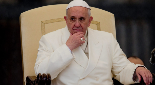 Fighting back: Pope Francis criticised the institutions of Europe in his Strasbourg speech