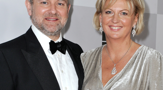 Hugh Bonneville and his wife Lulu Williams