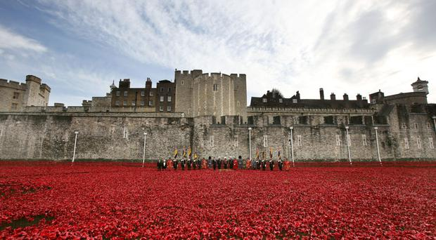 Fitting tribute: poppies at the Tower of London to mark the centenary of the First World War
