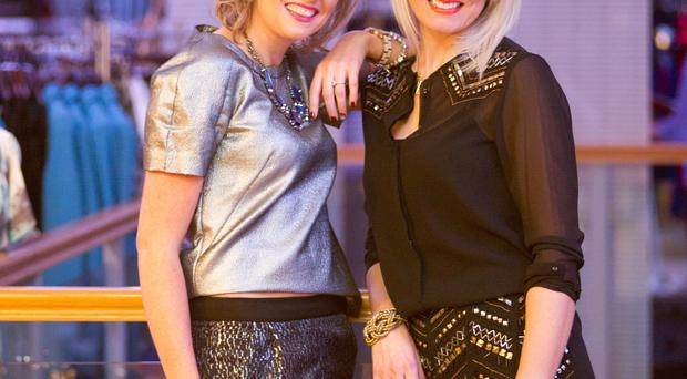 Trendsetters: Edel Owens and Sabrina Gamble, whose Enniskillen shop has 8,000 followers on Facebook