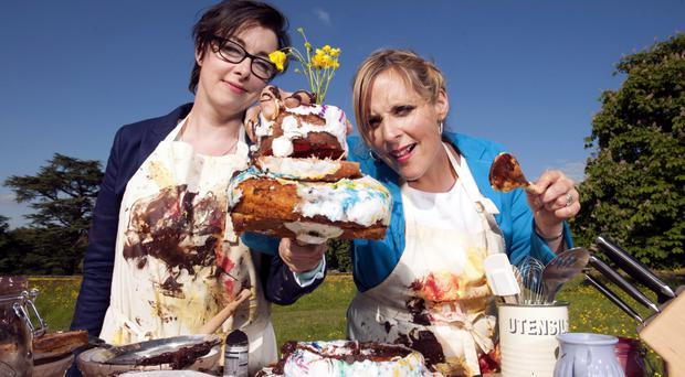 Mel and Sue on the Great British Bake Off
