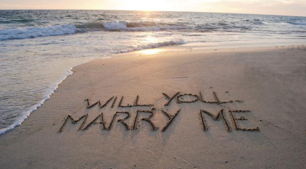 Sand script: the couples who have taken the plunge