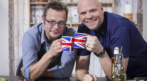 TV chef Tom Kerridge (right) with Hugh Fearnley-Whittingstall