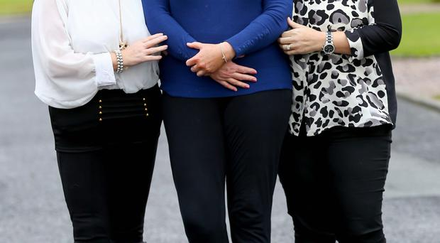 United stance: from left, Lynn Haveron, Alison Gilmore and Elaine McCleery